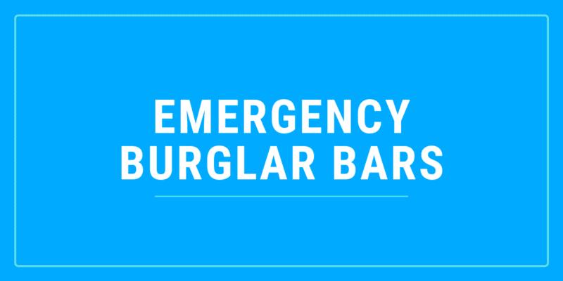 emergency burglar bars