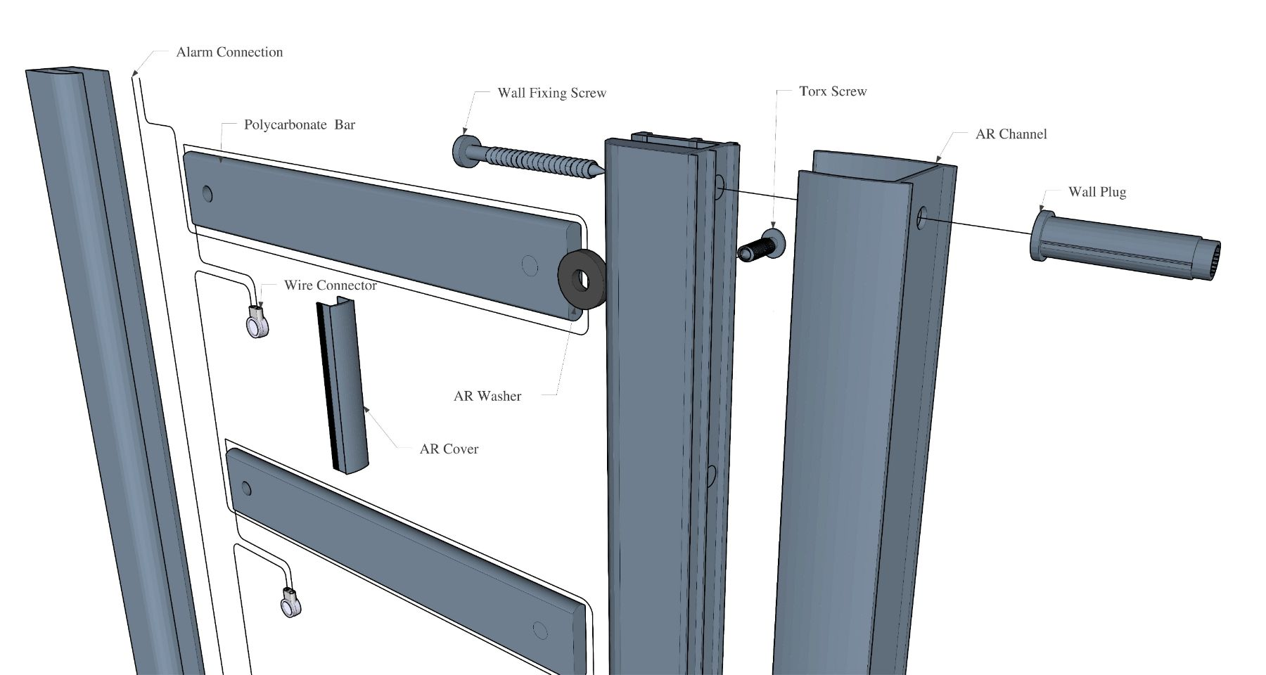 AluRail Fixing options